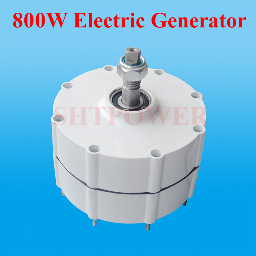 <font><b>800W</b></font> <font><b>Wind</b></font> <font><b>Generator</b></font> 12V/24V/48V vertical horizontal <font><b>wind</b></font> turbines system household diy 300W 400W 3 phase ac image