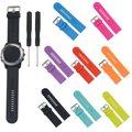 Nuevo reemplazo suave correas de reloj correa de silicona deportes pulsera de plata hebilla de herramientas para/garmin/fenix 3 accesorios reloj