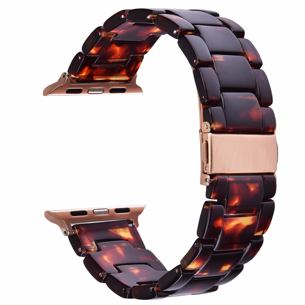 V-MORO 2017 Newest WATCH STRAP For APPLE WATCH 42MM 38mm Women Fashion Resin iWatch BAND Unique Design FOR Apple Watch CORREAS пуловер tony moro tony moro to046emobl41