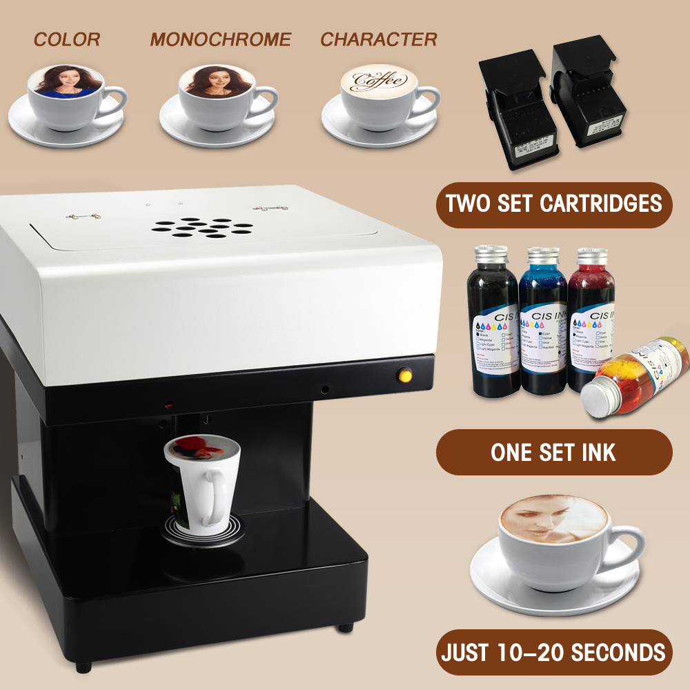 Colorsun Wifi Version Coffee Printer Cake Printing Machine Edible Printer Selfie Coffee Printing Machine With Edible Ink