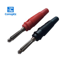 2pcs Red and Black 4mm Solderless Side Stackable Banana Plug Musical Speaker Cable Wire Pin Connectors 10pcs audio speaker wire banana plug connectors 4mm adapter real cable entry