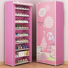 7 Layer 8 Layer 10 Layer DIY Combination Cloth Shoe Cabinet Dust-proof Fabric Storage Shoes Rack Folding Shoe Organizer Cabinet