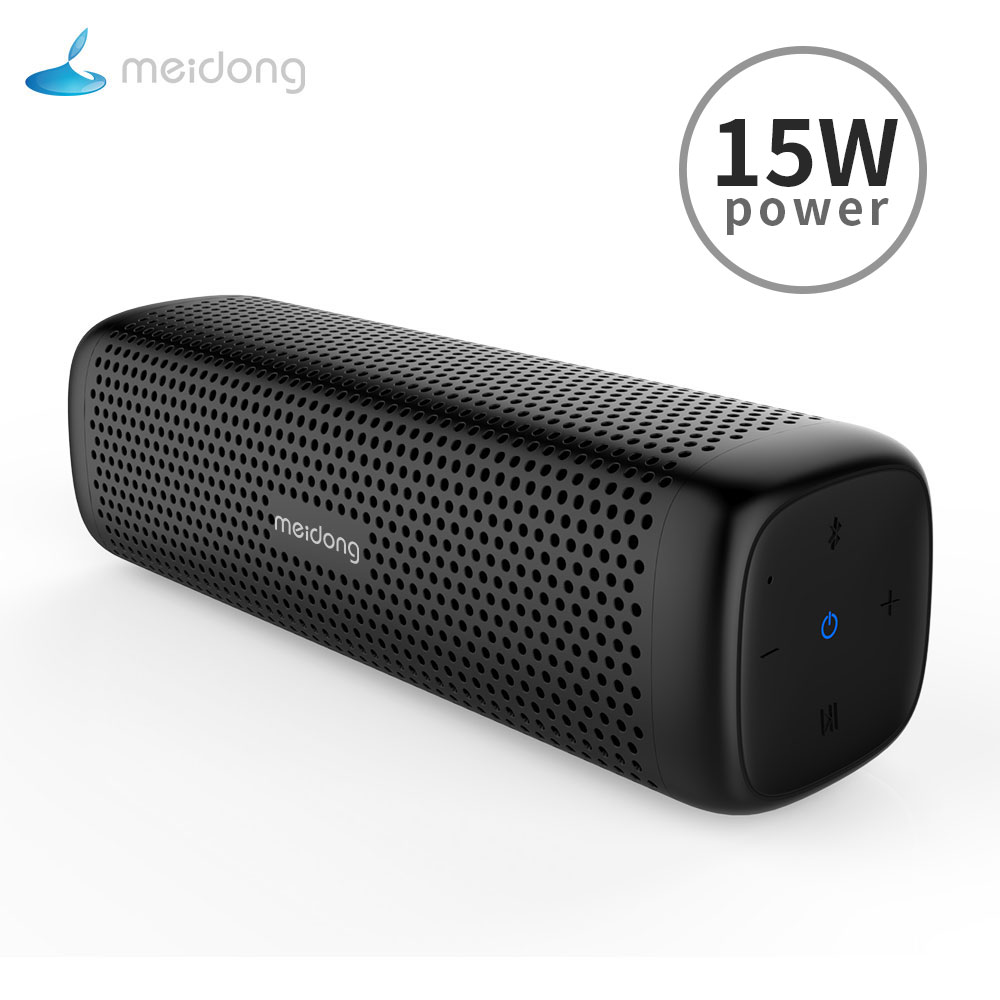 Original Meidong MD 6110 Portable wireless Bluetooth Speaker Stereo 15W TF Music Subwoofer Metal Speakers for