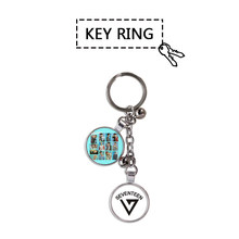 Youpop KPOP SEVENTEEN Album Al1 Don't Wanna Cry Photo Key Chains Fashion Personalized Metal Key Ring Pendant Keyring YSL102(China)