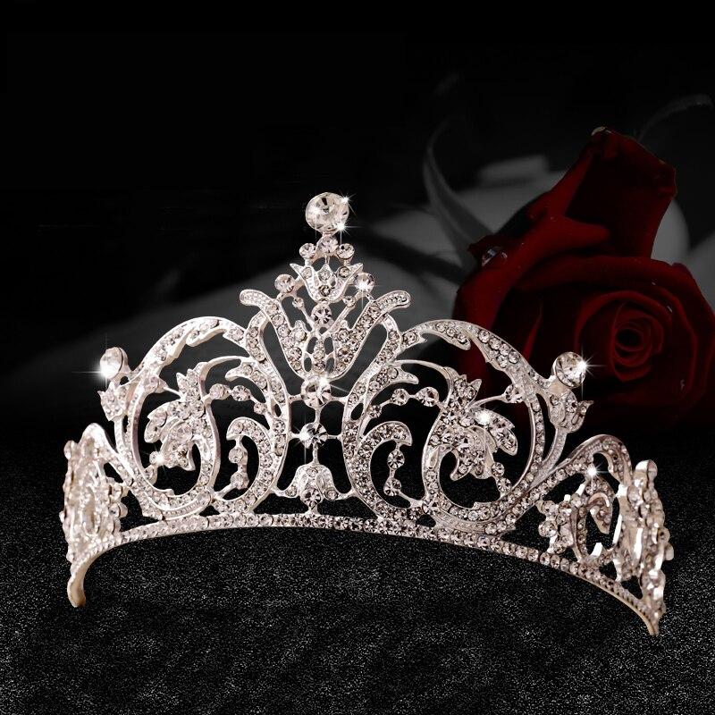 Coroas de strass cristal noiva cabelo acessorios casamento diadèmes par venda coroas concurso cabeca enfeites de cabelo da joia