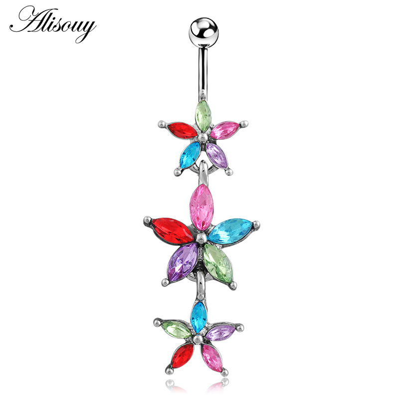 Alisouy 1pc Navel Star...