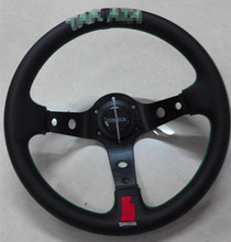 F s 2015 new embroidered leather steering wheel / 13-inch racing wheel shelf