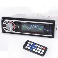 Модель Универсальный 1 Дин Радио 1DIN Аудиомагнитолы Автомобильные FM стерео SD MP3 плееры AUX USB в тире Электроника для автомобиля с Дистанционное