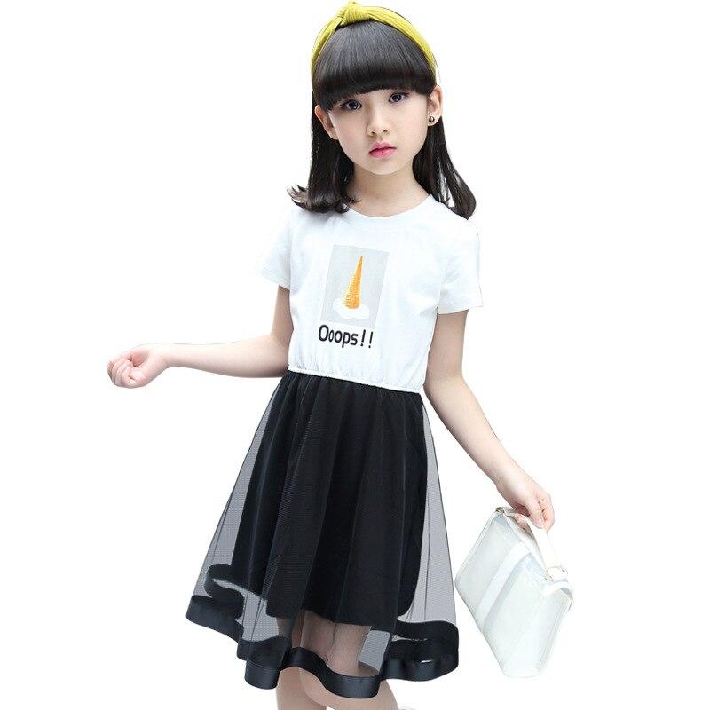 abdd0e6f80d 2018 Brand Children Dress Girls Summer Mesh Dresses Toddler Clothing Kids 7  10 14 Years Old Girls Summer Dress For Baby-in Dresses from Mother   Kids  on ...