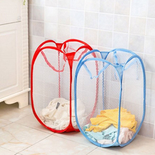 Pop Up Washing Clothes Laundry Basket Bag Foldable Mesh Storage Toy Container Organization Dirty clothes basket Home Accessoris