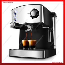KA6823 muti-function full-automatic italy type coffee espresso maker machine with high pressure bean grinding steam for home use