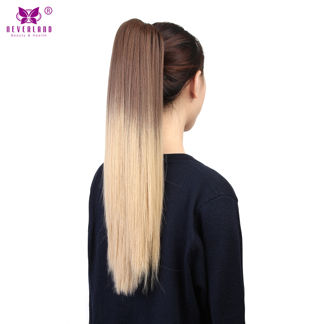 Aimei 20 Claw Clip In Ponytail Hairpieces Straight High Temperature