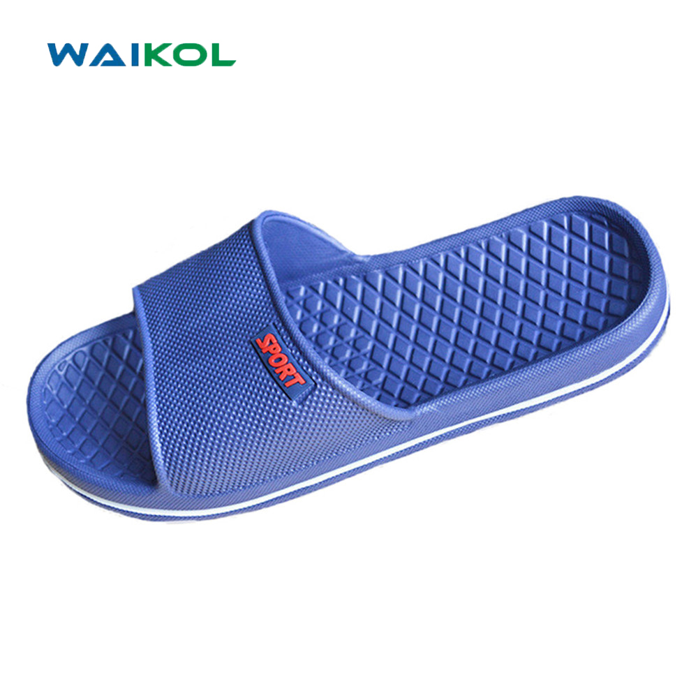 Waikol Men Shoes Bathroom Flat Sandals Summer Home Slippers Casual Indoor Shoes Beach Sandals 50%off men shoes summer eva massage foam beach flat sandals non slip bathroom household room indoor home house shoes