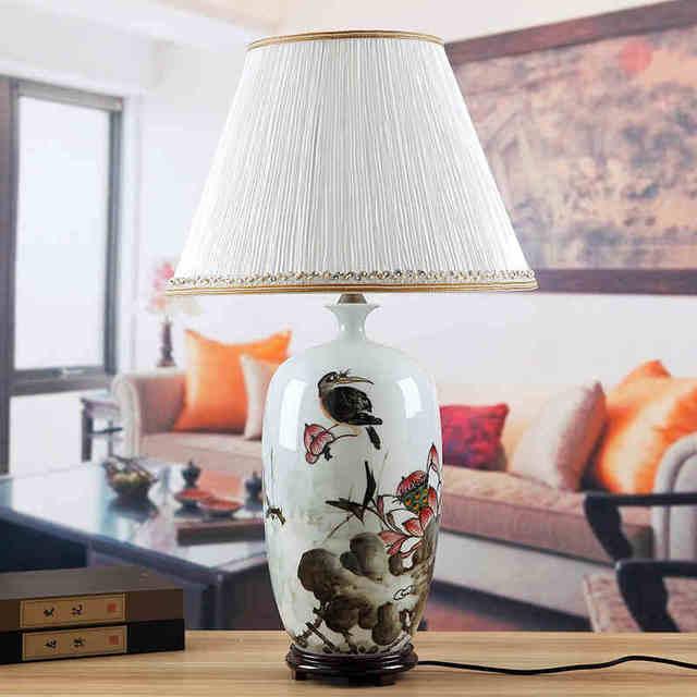 Vintage cinese soggiorno camera da letto lampada da tavolo di ...