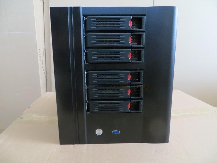 NAS Chassis 6 plate Hard drive bracket data Storage USB3 0 home backup computer chassis