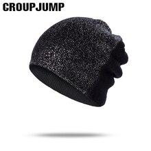 GROUP JUMP, хлопковая Женская Теплая эластичная шапка Skullies Beanies, весенняя шапка, стразы, шапки для женщин, женская шапка, шапочка, шапка