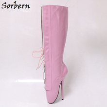 Buy ballet boots pink and get free shipping on AliExpress.com 3de5968c0ad6