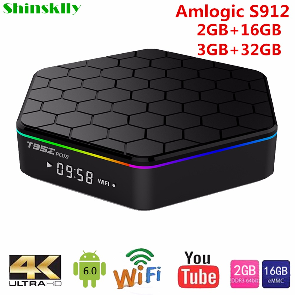 T95Z Plus Smart Android TV Box Amlogic S912 Octa core RAM 2GB 3GB 16GB 32GB TV