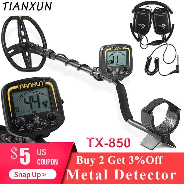Professional Metal Detector Underground Search Gold Digger Treasure Hunter Metal Finder Treasures Seeking Tool TX-850