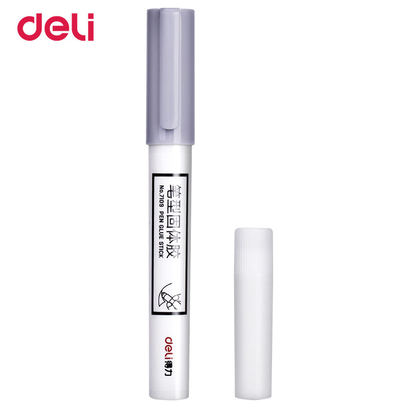 Deli 2018 Creative Pen Shape Glue Stick For School Office Quality Strong Adhesive Super Glue Set Contain Spare Stick Refill Gift