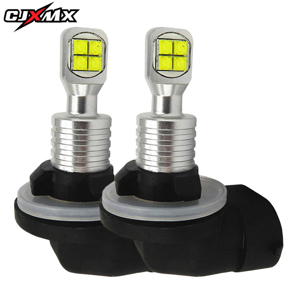 CJXMX 2Pcs H27 Led 880 881 Car Lights 6000K White 1500LM Super Bright Car Fog Light Bulb 12V Auto Fog Lamp Driving Bulbs