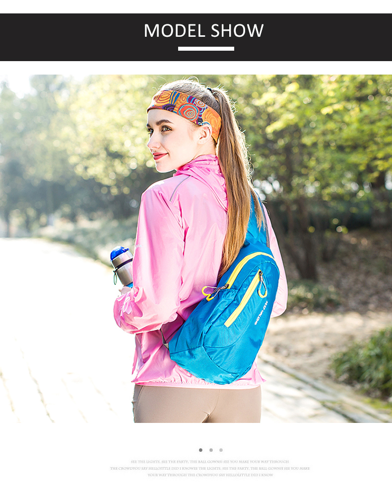 Hot Brand New Unisex Waterproof Nylon Chest Bag Men Women Running Shoulder Bag Diagonal Outdoor Sports Gym Bag sacs de course