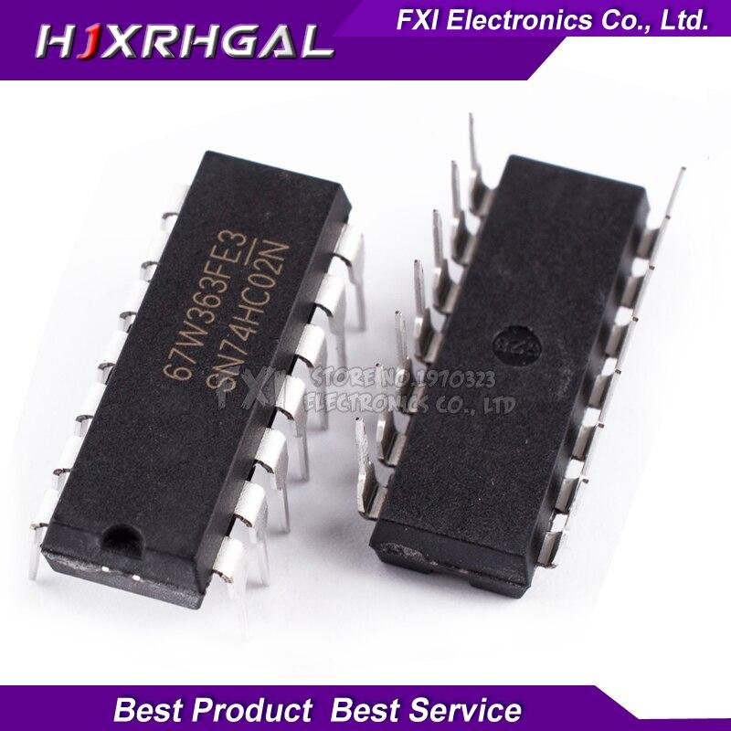 10PCS 74HC02N 74HC02 DIP14 DIP SN74HC02N New Original