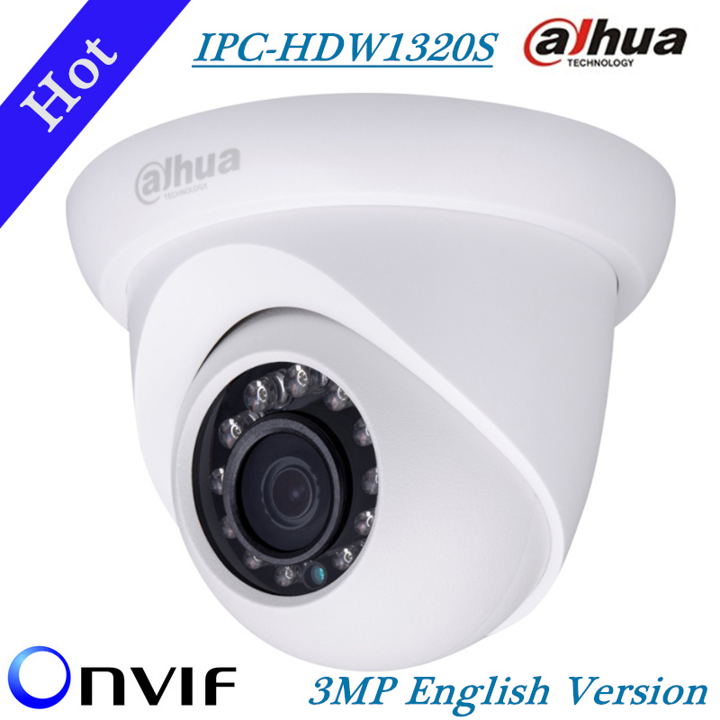 DAHUA  IP Camera IPC-HDW1320S 3MP Full HD Network Small IR Eyeball Camera HDW1320S IP67 Onvif new model replace for IPC-HDW4300S