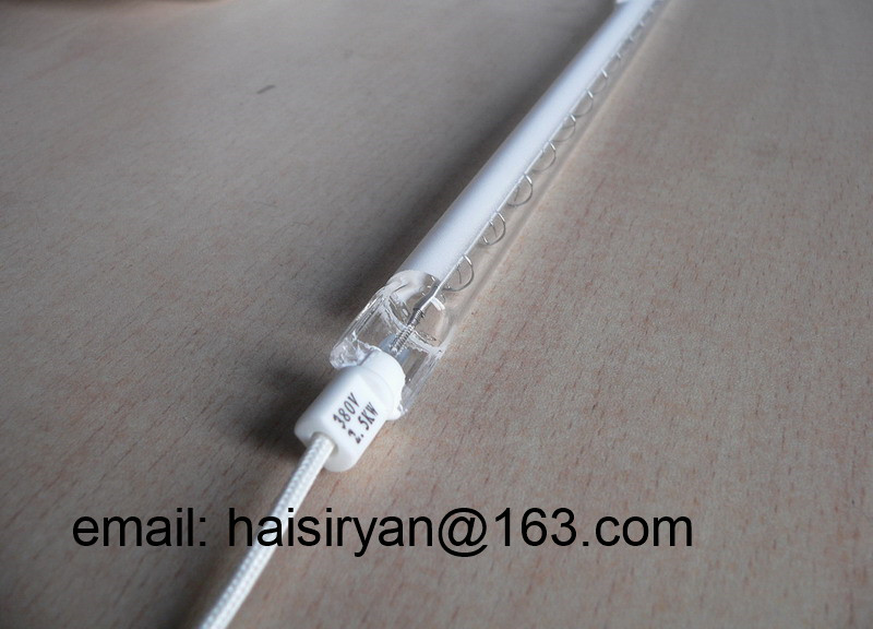 customize white plate IR emitter short wave heater bulbs halogen quartz infrared heating tube for paint dryer