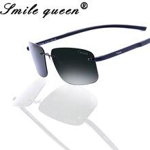 2016 Tinize Hombre Ultra ligero sin montura De conducción Gafas De Sol mujer De titanio De memoria TR90 Gafas De Sol polarizadas Gafas De Sol Hombre