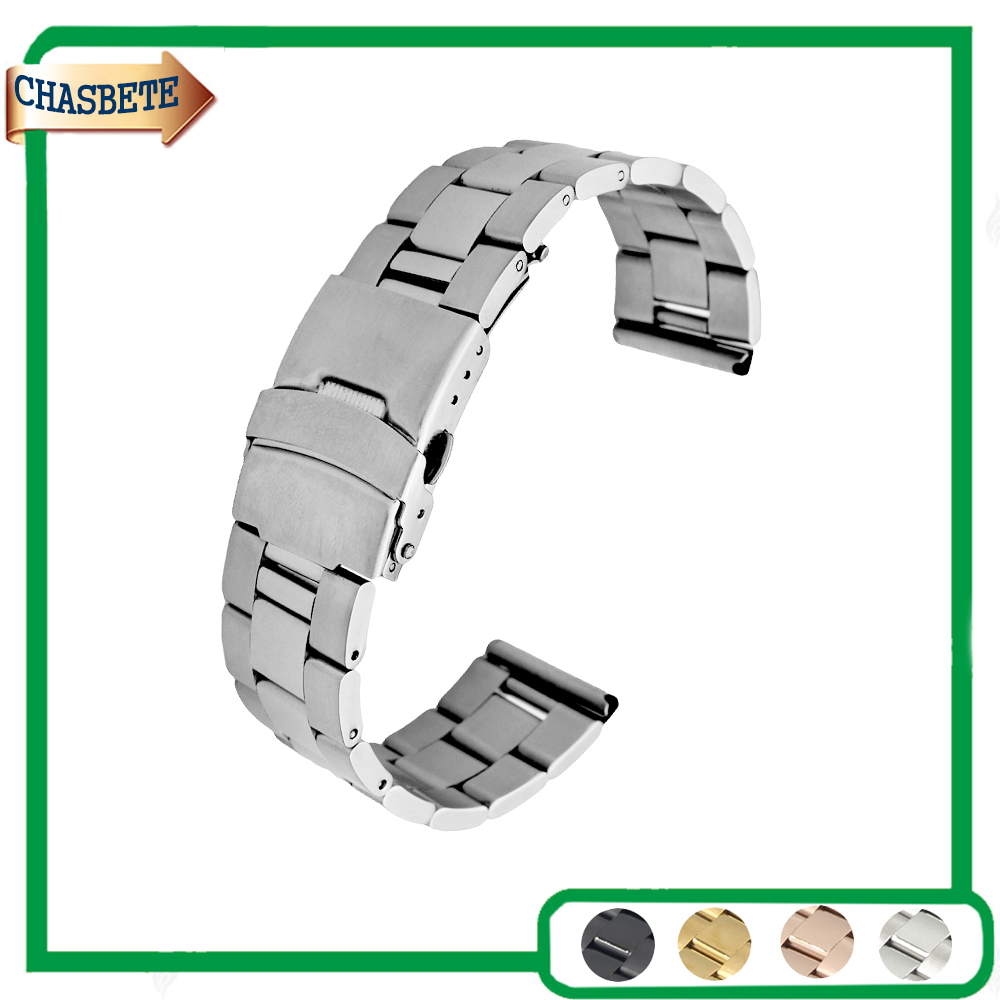 Stainless Steel Watch Band For Casio BEM 302 307 501 506 517 EF MTP 18mm 20mm 22mm 24mm Metal Strap Belt Wrist Loop Bracelet