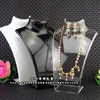 3 шт. x ювелирные изделия дисплей реквизит цепочки и ожерелья подставка держатель черный кожзам товары для мульти подвеска мольберт стеллаж