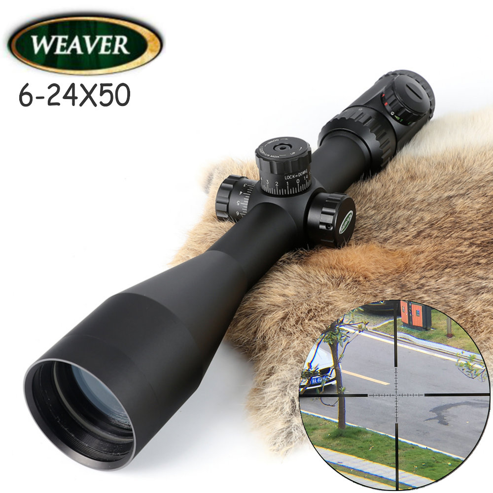 Weaver Kaspa 6-24X50 Optical Sight P4 Glass Etched Reticle Riflescopes Hunting Shooting Rifle Scope цена