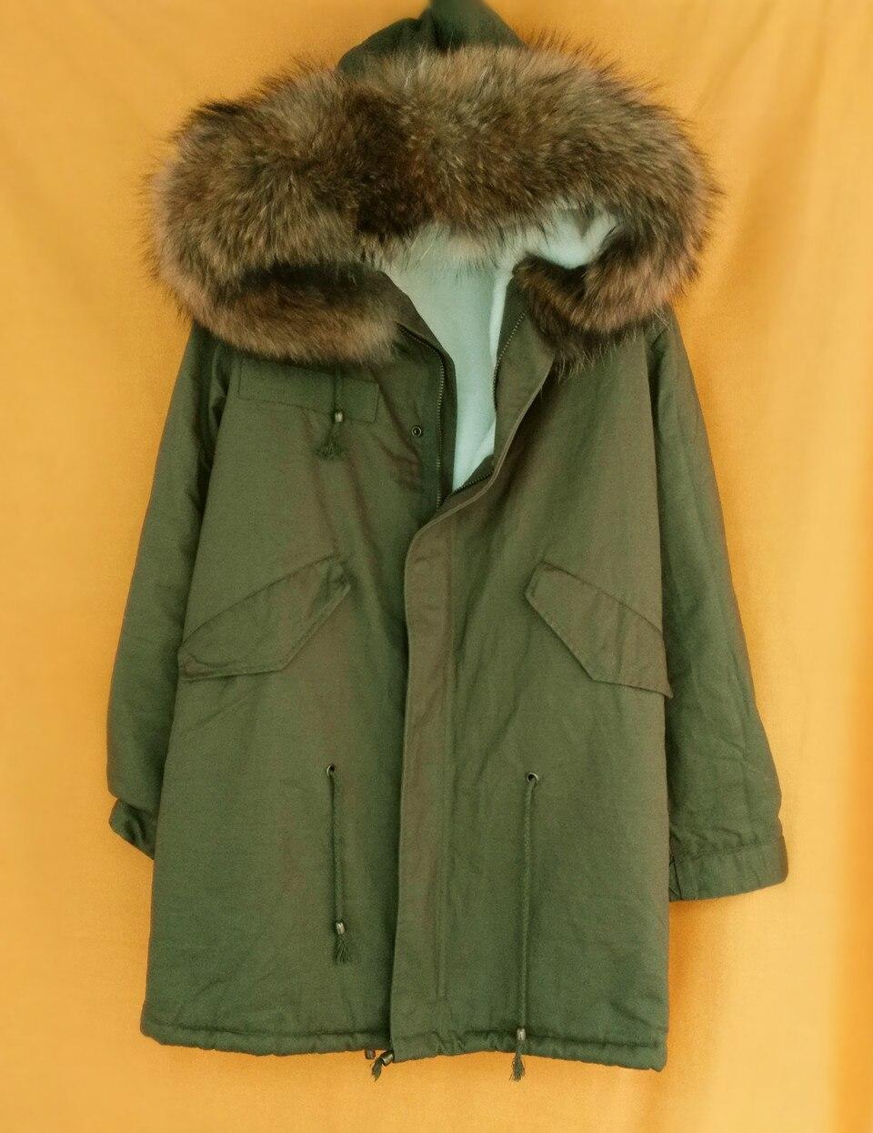 evanding армия зеленый куртка реального меховой воротник зимние пальто дамы с длинным рукавом из искусственного меха подкладка капюшоном плюс размер верхняя одежда парки с-на 2XL