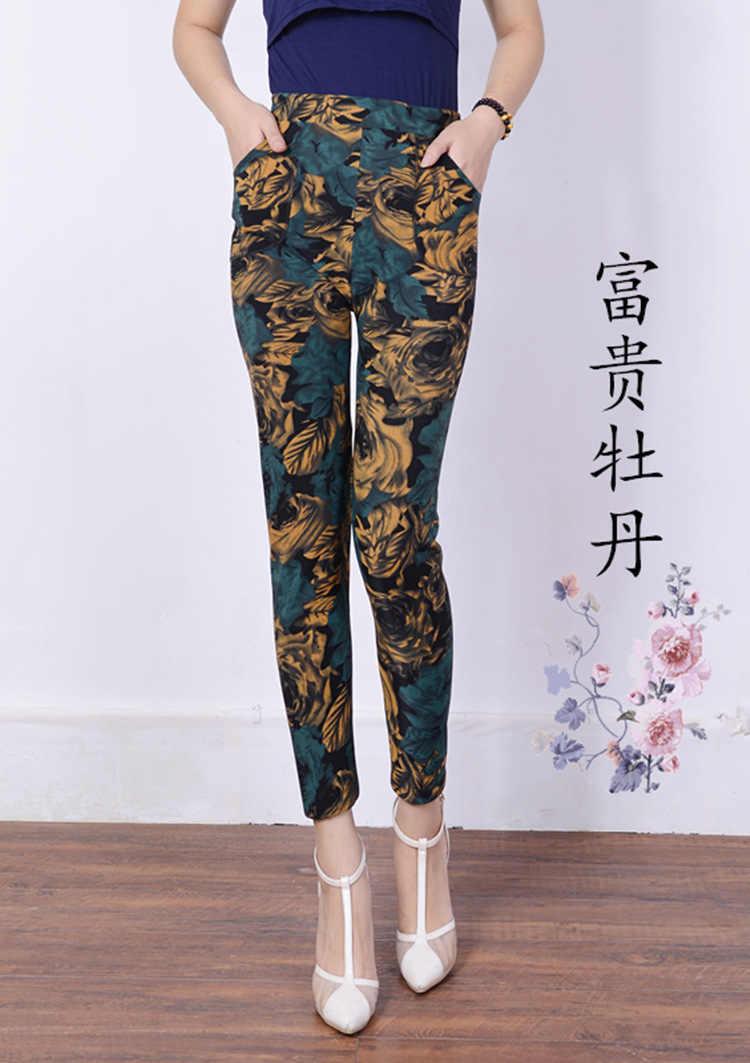 5798eef10e9e53 ... 2018 New Arrival autumn winter Style Plus Velvet leggings Women  high-elastic Plus size XXXL