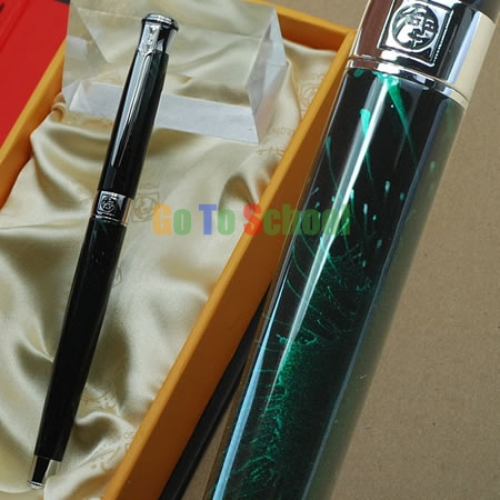 PICASSO 903 SHIMMERING JADE & SILVER F NIB FOUNTAIN PEN ORIGINAL BOX FREE SHIPPING original picasso fountain pen ps 927 silver fountain pen high grade teacher leader gift white oracle green free shipping