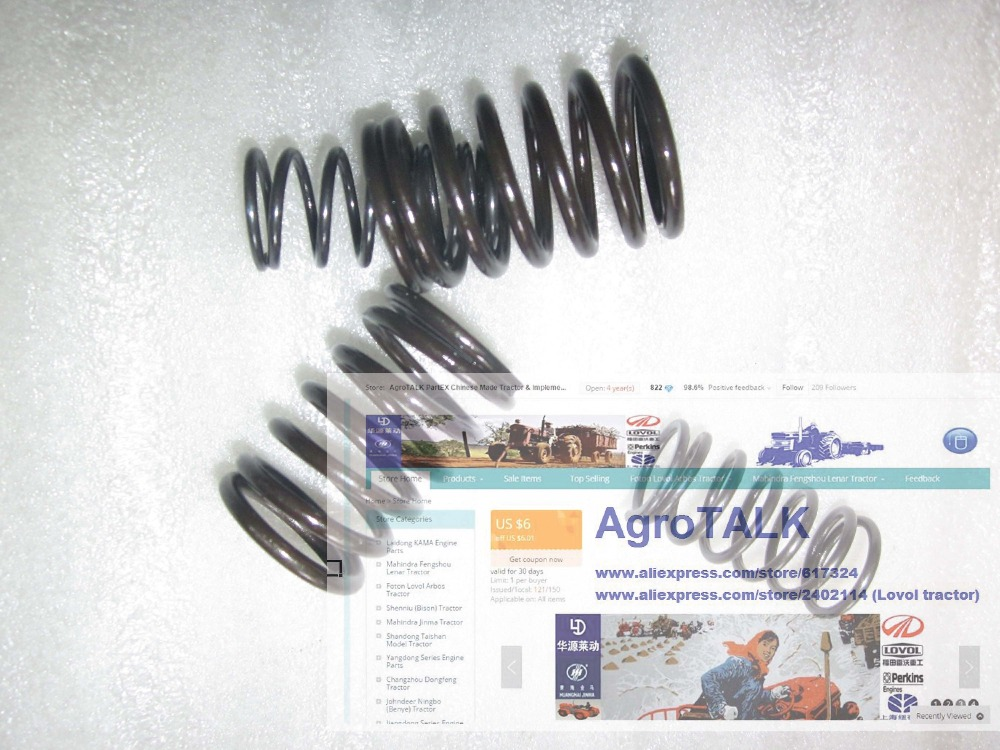 Jinma or weituo tractor with TY290X TY295X, the set of inner and outer valve spring, part number:TY290X.01.125 TY290X.01.124 shandong weituo tractor parts the distributor of ts 240d tractor the small wheeled tractor with single cylinder engine