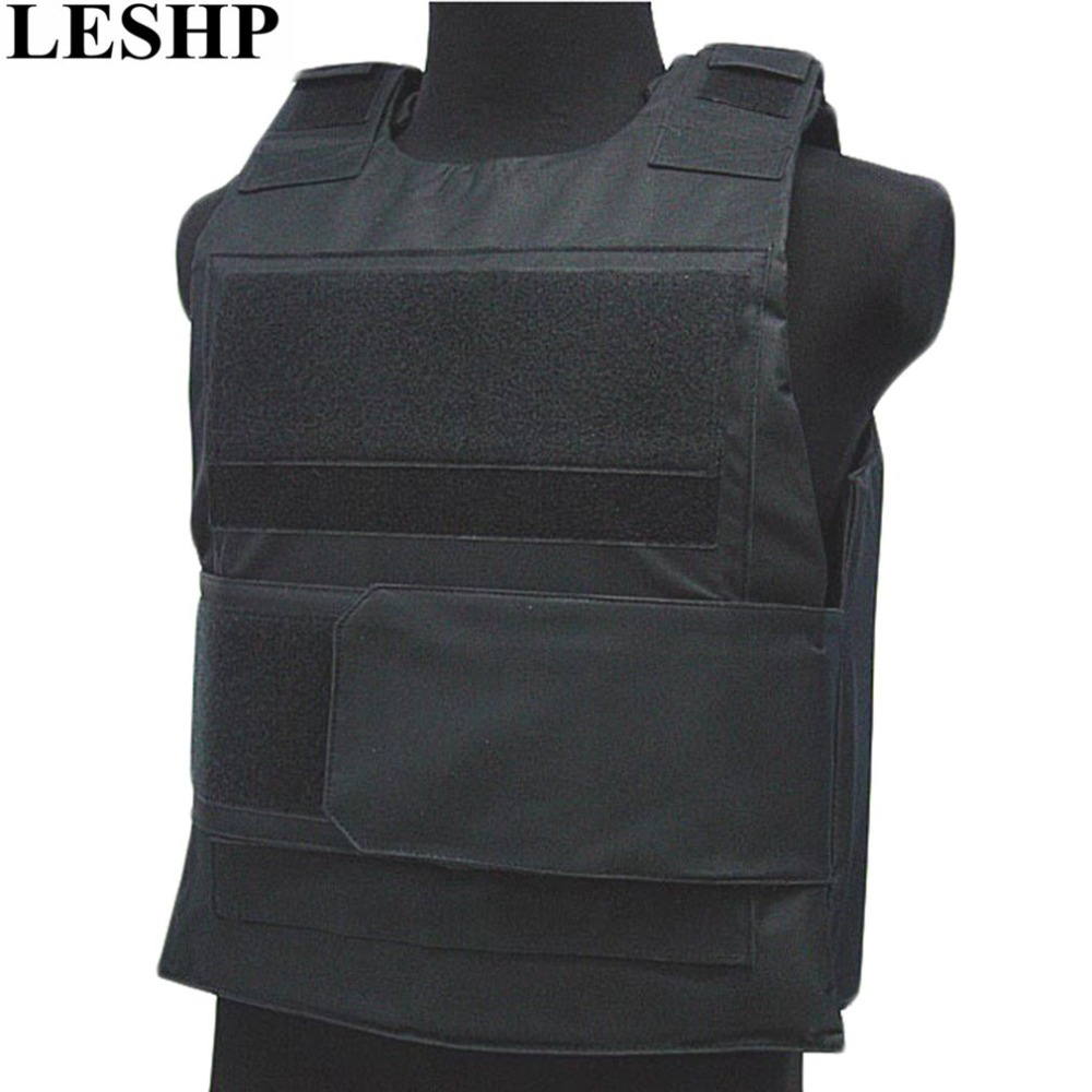 LESHP Bulletproof Vest Men Women Security Guard Vest Breathable CS Tactical Vest Waterproof Protecting Clothes