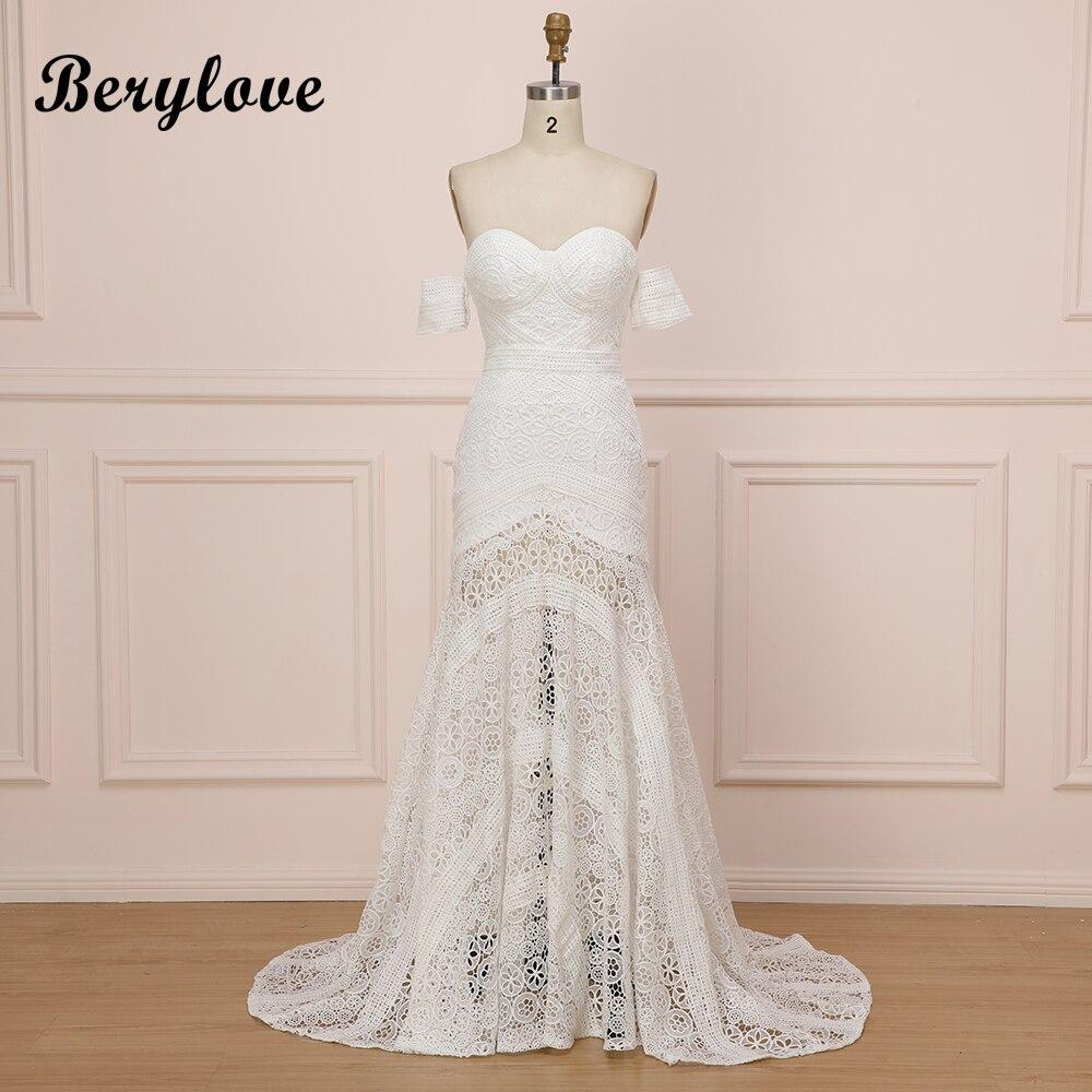 3abb659681 US $208.19 |Sexy Boho Beach Ivory Lace Mermaid Wedding Dresses 2019  Sweetheart Long White Bridal Dresses Hawaiian Wedding Dress Gowns Summer-in  ...