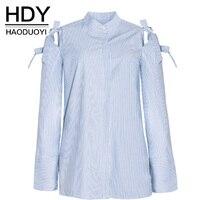 HDY Women S Shirt Striped Blouses Spring Autumn Women Tops Long Sleeve Casual Women Tops Women