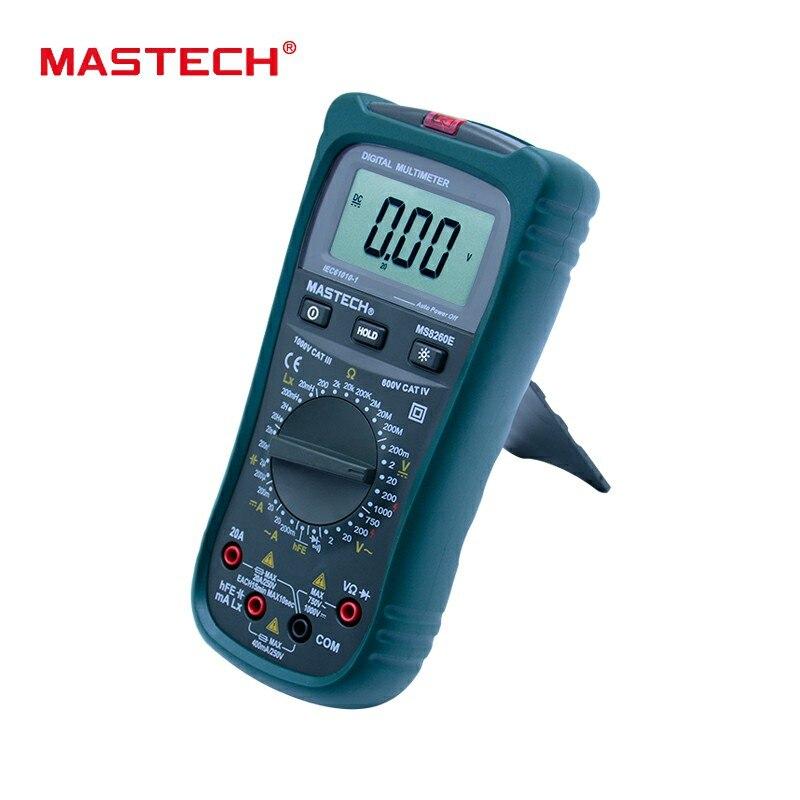 MASTECH MS8260E Multimètre Numérique LCR Meter AC DC Tension Courant Capacité Inductance Testeur avec Sans contact Tension D'essai