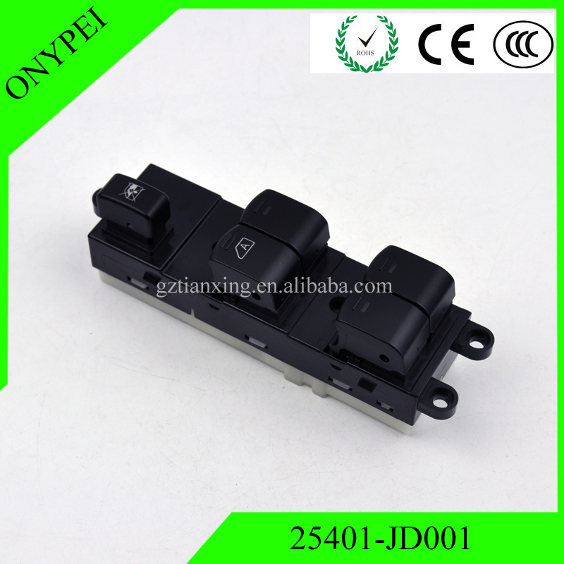 Lift Button Switch Front Left Electric Power Master Window Switch 25401-JD001 For Nissan Qashqai NEUF 25401 JD001 25401JD001 power window driver door switch for nissan altima 2007 2012 25401 zn50c