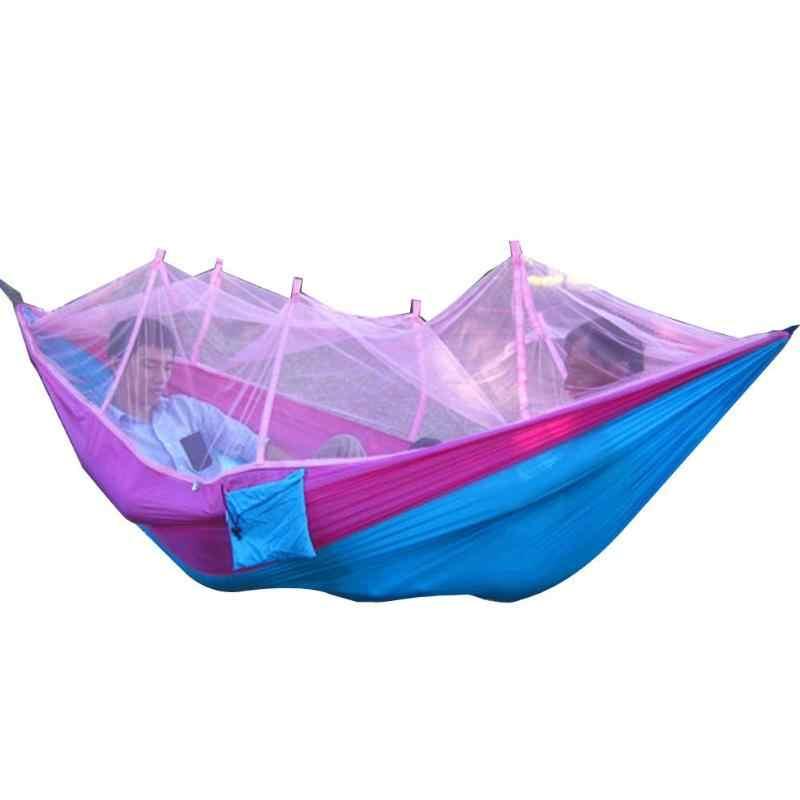 Москитная сетка парашют складной гамак для кемпинга путешествия висячая переносная люлька