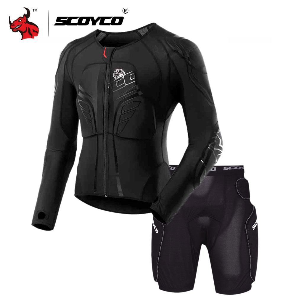 SCOYCO Motorcycle Jacket Protective Gear Motocross Protection Moto Jacket Motorcycle Armor Racing Body Armor Black Moto Armor scoyco am05 racing motorcycle body armor protector black size m