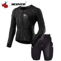SCOYCO Motorcycle Jacket Protective Gear Motocross Protection Moto Jacket Motorcycle Armor Racing Body Armor Black Moto Armor