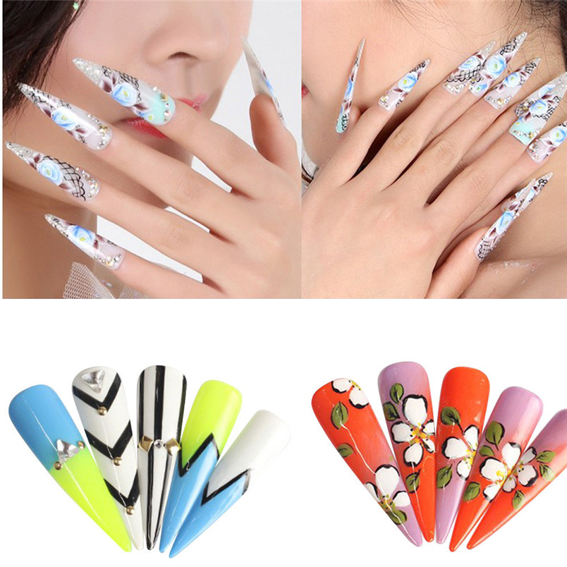 Aliexpress.com : Buy 500PCS Mixed Set False Long Nail Tips ...