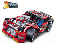 3360 608pcs Race Truck Car 2 In 1 Transformable Model Building Block Sets children DIY Toys Compatible with 42041