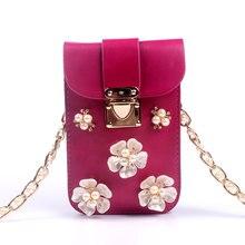 Casual kleinen diamanten perle handtaschen neue mode kupplungen dame-parteihandtasche frauen crossbody schulter telefon taschen 7 farbe