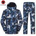 Neue Winter Haifisch TAD Outdoor Wasserdicht Camouflage Soft shell Jacke Hosen Männer Frauen Skifahren Warm Halten Sport Kleidung