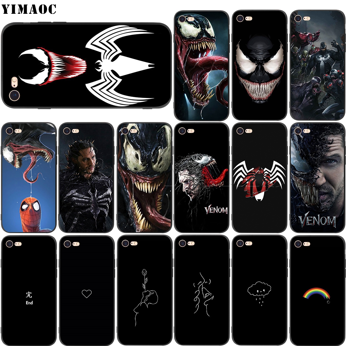 YIMAOC Venom Marvel Soft Silicone Case for iPhone XS Max XR X 8 7 6 6S Plus 5 5s se iPhone